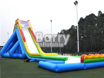 Giant Inflatable Water Slide With Pool