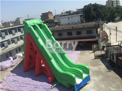 Large Green And Red or Custom Giant Tall Leap Inflatable Slide For Adult BY-DS-077