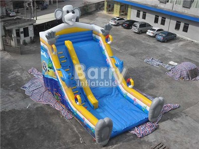 Commercial Grade Animal Theme Elephant Inflatable Slides For Sale BY-DS-078