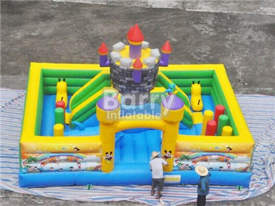 7X5X5m Toddler Playground Inflatables , Inflatable Amusement Park Items China BY-IP-081