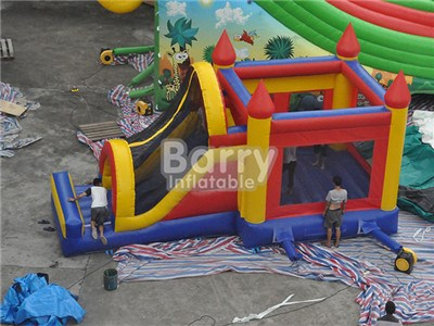 China factory directly cheap price for inflatable slide bounce combo for sale BY-IC-029