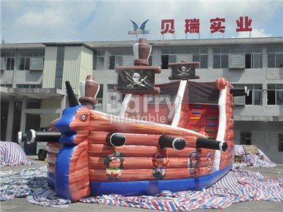 High quality inflatable pirate ship combo /inflatable bouncer house combo for fun BY-IC-030