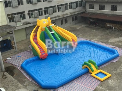 ultimate kids inflatable water park for sale ,elephant inflatable waterparks BY-AWP-109