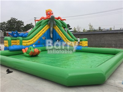 Free Design Giant Octopus Water Park Inflatable China 20 Years Factory  BY-AWP-110