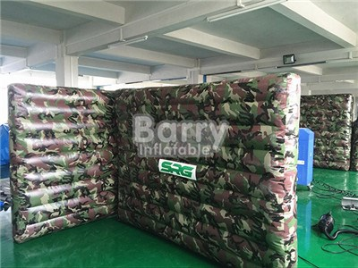 Camouflage Paintball Area Inflatable Broken Wall Broken Paintball Bunker Wall Digital Printing BY-SP-077