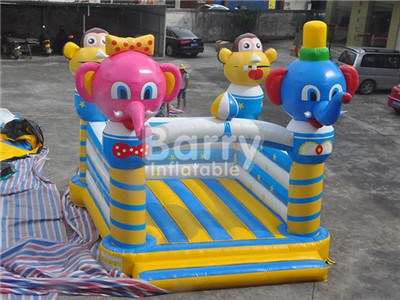 commercial grade cheap animal elephant bounce houses for sale,moon bounce sale BY-BH-052