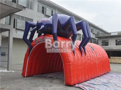 2017 Cool spider design giant inflatable football tunnel,inflatable tunnel China factory  BY-IT-039