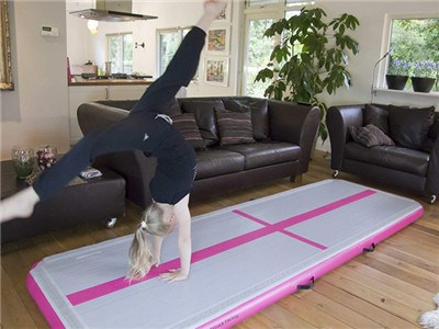 Customized tumble track home use cheap tumble track inflatable air mat for gymnastics BY-AT-009