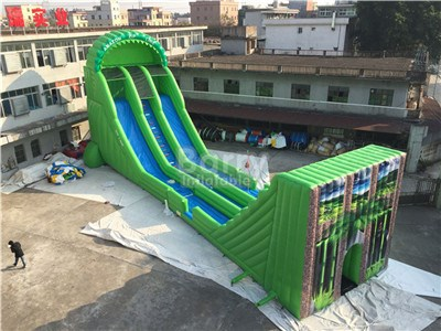 Customized Mobile Zip Line Manufacturer Adult Inflatable Game BY-SP-088