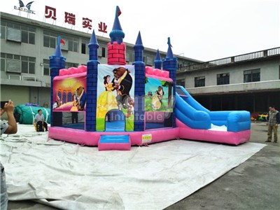 Princess bouncy slides for sale with whole logo printing