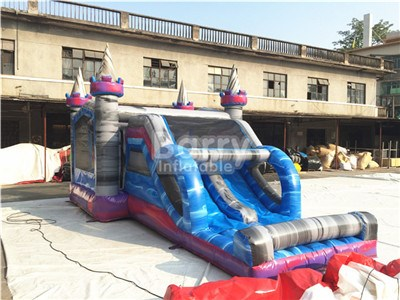 China factory cheap price castle bounce house with slide for sale