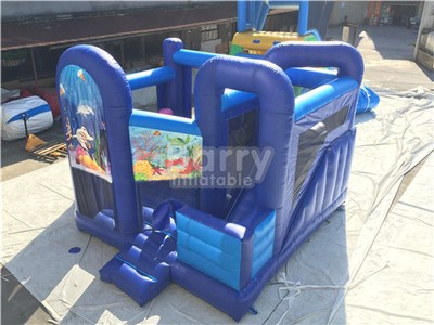 Blue bounce house combo for sale China Barry