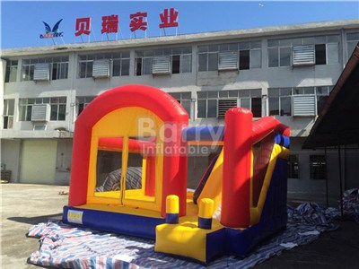 High quality 0.55mm pvc inflatable bounce house with slide
