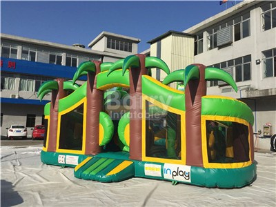 China Jungle Inflatable Theme Park,Kids Inflatable Playground For Sale IP-087