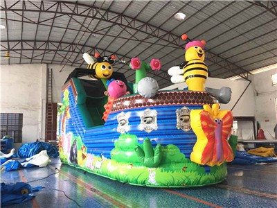 Custom Bee And Flower Inflatable Slide For Sale Commercial BY-DS-086