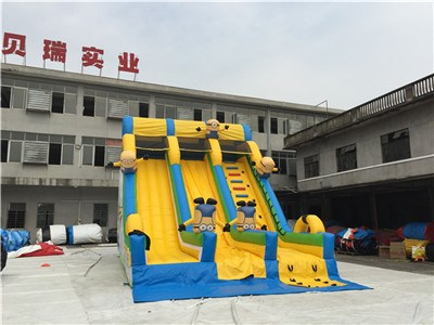 Factory Price Outdoor Yellow Minion Inflatable Slides For Sale BY-DS-083