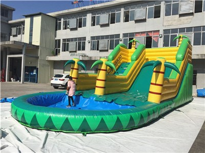 Summer commercial grade palm tree inflatable water slides for sale BY-WS-122