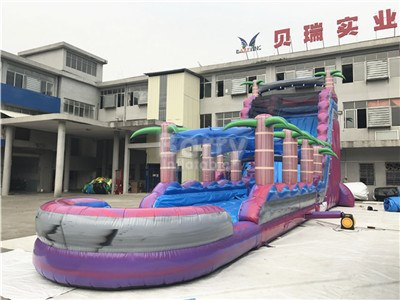 commercial grade purple inflatable slip n slide ,water slides for sale BY-WS-121