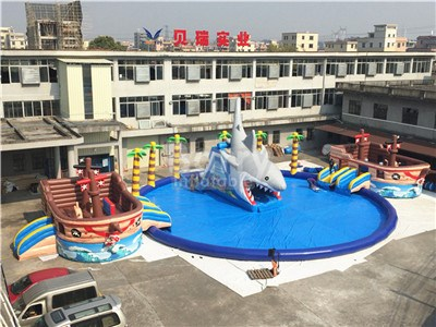 Sharp And Pirate Barry Inflatable Water Park China Factory Made BY-AWP-112