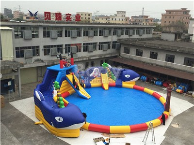 Giant Whale Commercial Water Park Slides For Sale BY-AWP-113