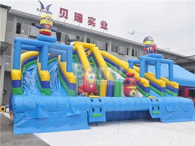 Hot Sale Beautiful Minion Inflatable Water Slide For Pool BY-WS-129