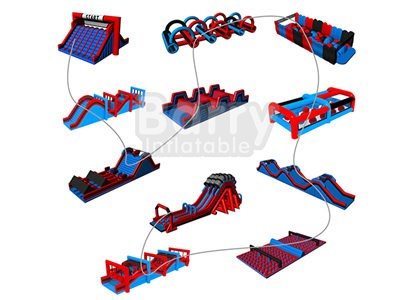 Brazil successful case insane inflatable 5k obstacle course race for sale  BY-5K-013