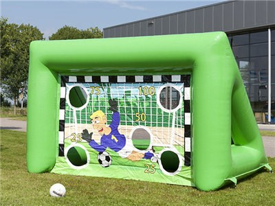 China 0.55mm PVC Soccer Training Equipment Inflatable Games Outdoor Mini Soccer Goal Wall BY-SP-094