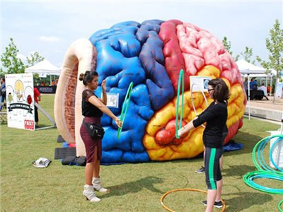 Custom made tent inflatable brain made in China  BY-IT-067