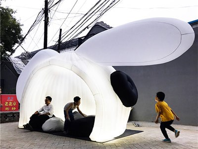 Custom made inflatable pavilion for event BY-IT-069