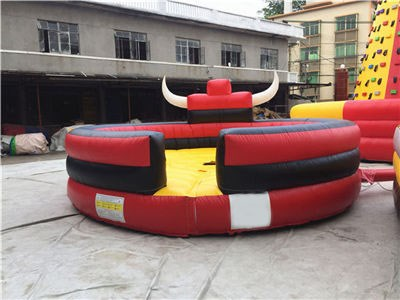 Red Inflatable Bull Riding Ring Game For Sale