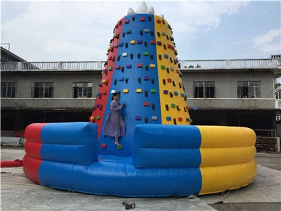 Outdoor Game Inflatable Rock Climbing Wall ,Obstacle Course Wall For Kids