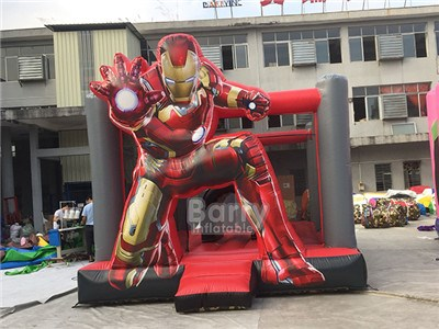 Waterproof 0.55mm PVC inflatable iron man jumping castle BY-BH-062