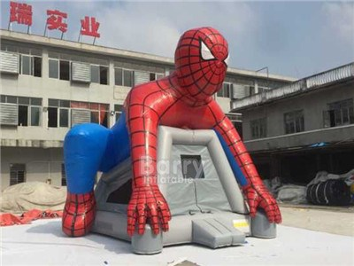 Superhero Inflatable Bouncy Castle, Spiderman Inflatable Bounce House BY-BH-064