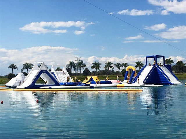 Giant Inflatable Water Park Games , Sport Park 35 Parts BY-IWP-002